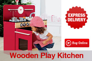 Including pots pans and play food childrens wooden play kitchen